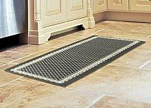 Teppich Küche in 100% Baumwolle Position Dots grau 55x180 cm Pois Grigio