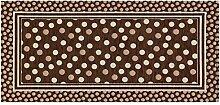 Teppich Küche mit Rückseite rutschfest Typ Sphere 55x240 cm braun