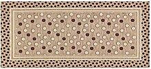 Teppich Küche mit Rückseite rutschfest Typ Sphere 55x280 cm Taupe