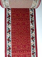 Teppich Küchenläufer auf Maß Rot 1055 lfm. 11,90 Euro Breite 60 x 500 cm