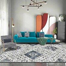 Teppich küchenteppiche Blauer Grauer Retro