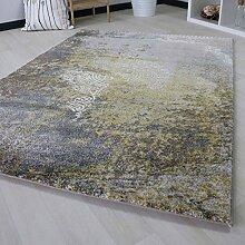 Teppich Kurzflor für Wohnzimmer Modern in Gelb, Beige, Grau Verlauf Ornamente Designer mit Öko-Tex