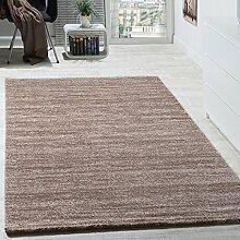 Teppich Kurzflor Modern Gemütlich Preiswert Mit Melierung Braun Creme Beige, Grösse:120x170 cm