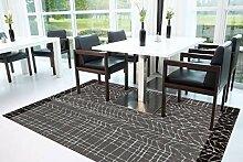 Teppich Kurzflorteppich Mit Modernem Design Grau