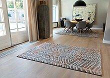 Teppich Kurzflorteppich Mit Modernem Design Taupe