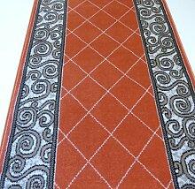 Teppich Läufer auf Maß Terrakotta 1444 Flur lfm. 11,90 Euro Breite 60 x 240 cm