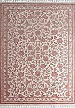Teppich Läufer Blumen Orientalisch Beige Altrosa