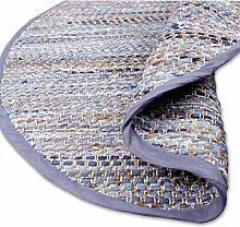Teppich Läufer Matte Unterlage Vorleger Fußabtreter, breite Auswahl an modernen Fleckerl- und Baumwollteppichen (150cm Ø / Jeans Bone)