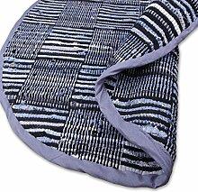 Teppich Läufer Matte Unterlage Vorleger Fußabtreter, breite Auswahl an modernen Fleckerl- und Baumwollteppichen (150cm Ø / Jaens Check)