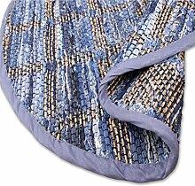 Teppich Läufer Matte Unterlage Vorleger Fußabtreter, breite Auswahl an modernen Fleckerl- und Baumwollteppichen (150cm Ø / Jeans Square)