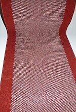Teppich Läufer Meterware rutschfest Stufenmatten Rot lfm. 37,90 Euro Breite 120 x 380 cm