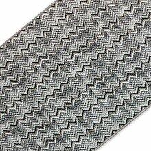 Teppich / Läufer mit Zick Zack Muster | pflegeleichter Flachgewebe Flurläufer in Wunschmaß | ausgezeichnet mit GUT-Siegel | kombinierbar mit Stufenmatten (Taupe, 100x700 cm)