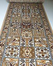 Teppich Läufer nach Maß Beige Felder 645 lfm. 19,90 Euro Breite 100 x 120 cm