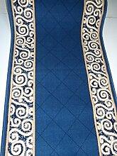 Teppich Läufer nach Maß Blau 1444 lfm. 13,90 Euro Breite 80 x 340 cm