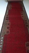 Teppich Läufer nach Maß Rot 822 lfm. 11,90 Euro Breite 70 x 420 cm
