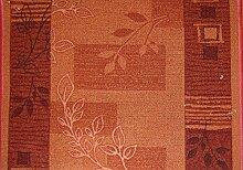 Teppich Läufer Rumba Schlinge Blumen Terrakotta