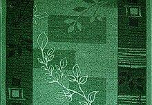 Teppich Läufer Schlinge Brücke Rumba Blumen Blau Grau in 20 Größen
