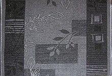 Teppich Läufer Schlinge Brücke Rumba Blumen Grau