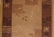 Teppich Läufer Schlinge Rumba Blumen Karamell in 20 Größen