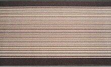 Teppich Läufer Schlinge Rumba Streifen Beige