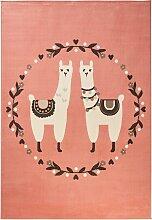 Teppich Lama, rosa (60/110 cm)