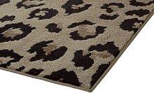 Teppich Leoparden Design 1, ca. 57/90 cm beige