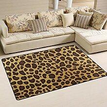 Teppich, Leopardenmuster, für Wohnzimmer,
