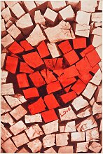 Teppich Love, rot (120/180 cm)