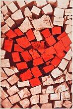 Teppich Love, rot (80/150 cm)