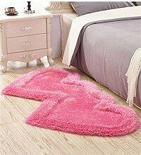 Teppich Lovely Double Heart Teppich Wohnzimmer Couchtisch Schlafzimmer Teppich Nachttisch Teppichboden Matte Lebensmittel ( Farbe : D , größe : 80*161CM )
