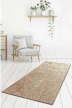 Teppich Lueck in Beige/Weiß