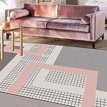 Teppich Luxus rutschfest Teppiche Rosa grau Creme