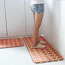 Teppich Mat Wasserdichte Küche Anti-Roll Teppich Badezimmer Schlafzimmer Türmatten Boden Teppich Lebensmittel ( Farbe : C , größe : 45*120cm )