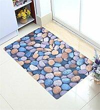 Teppich Mat Wasserdichte Tür Boden Teppich Teppich Badezimmer Anti-Roll Schlafzimmer Matten Boden Teppich Lebensmittel ( Farbe : A , größe : 80*120cm )