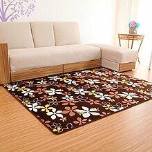Teppich Matratze Korridor Drucken Teppich Wohnzimmer Schlafzimmer Couchtisch Schwimmende Fenster Teppich Flanell Teppich kann angepasst werden Gelbe Füße 140 * 200cm Wohnzimmer Schlafzimmer Teppich ( farbe : A2 , größe : 60*160cm )