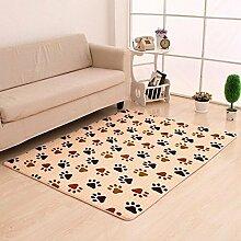 Teppich Matratze Korridor Drucken Teppich Wohnzimmer Schlafzimmer Couchtisch Schwimmende Fenster Teppich Flanell Teppich kann angepasst werden Gelbe Füße 140 * 200cm Wohnzimmer Schlafzimmer Teppich ( farbe : A5 , größe : 60*160cm )