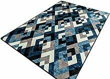 Teppich Mats Eissalon Schlafzimmer Teppich Couchtisch Teppich kreativ Persönlichkeit Mode Bettseite Teppich, blau ( größe : 140*200CM )
