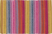 Teppich mehrfarbig gemustert 140 x 200 cm SENEGAL