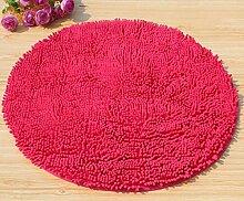 Teppich, Mikrofaser Chenille Teppich mode Runde computer Kissen Teppich Fußauflage Rutschfeste Matte Türmatten amerikanischen Teppich (color:#7, Größe: Durchmesser 70 cm)
