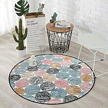 Teppich mit abgerundetem Geometrischem Muster,