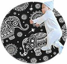 Teppich mit afrikanischem Tribal-Motiv, indischer