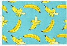 Teppich mit Bananenmuster und Blättermotiv, für