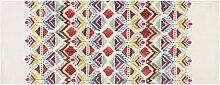 Teppich mit buntem Ethno-Muster bedruckt 80x200