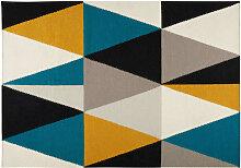 Teppich mit bunten Dreiecksmotiven 200x140 ARCHI