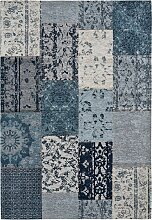 Teppich mit Chenilleeffekt, blau (60/100 cm)