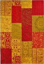 Teppich mit Chenilleeffekt, rot (155/230 cm)