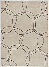 Teppich mit Design Home Life Cosi 78032, Polypropylen, beige, 140x 190cm
