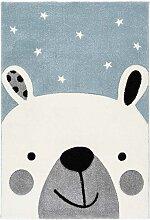 Teppich mit Eisbär Motiv Kinderzimmer