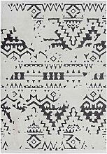 Teppich mit Ethno Muster Kurzflor