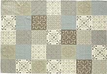 Teppich mit Fliesenmotiv 140 x 200 cm PROVENCE